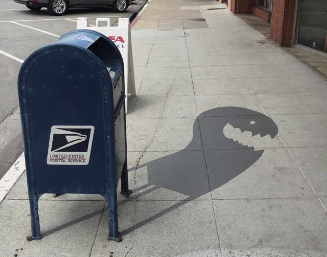 Street Artist painting funny fake shadows to confuse people (20 photos)