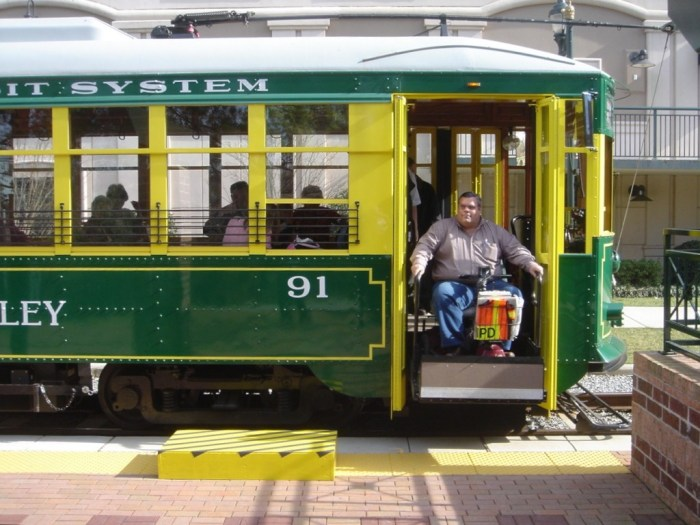 Charlotte replica streetcar No. 91, the one involved in the July 19 accident, when new in 2005. These streetcars operated briefly on a demonstration line before being stored until the new downtown line opened recently. Rick Laubscher photo.