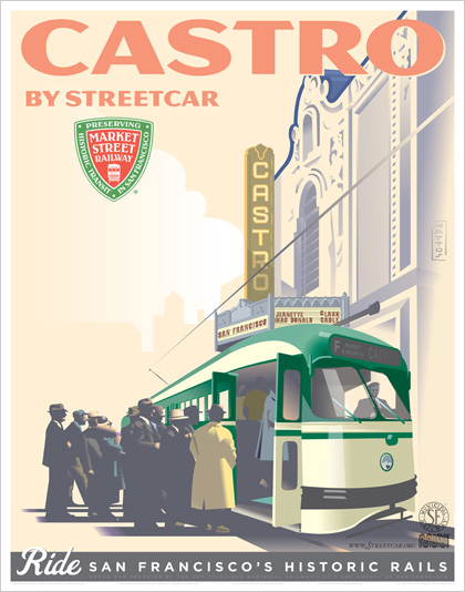 Castro by Cable Car Poster