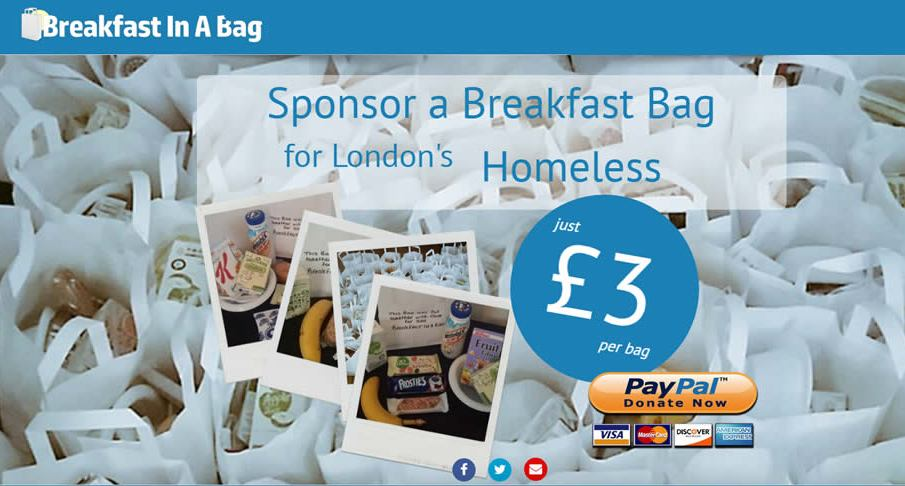Breakfast In A Bag - A New Initiative for London's Homeless