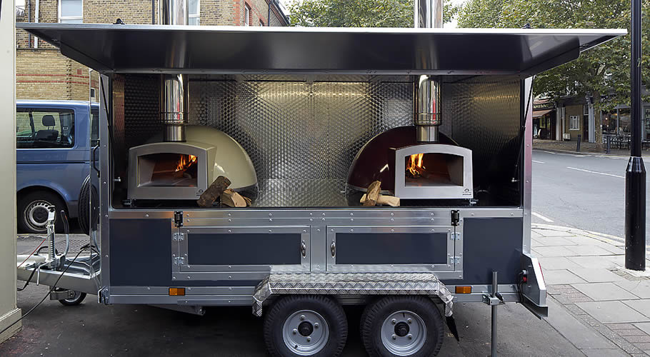 Blistering Mobile Wood Fired Pizza Catering Trailers From