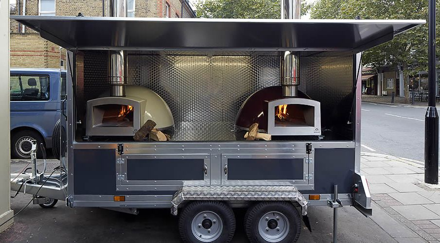 Blistering mobile wood fired pizza catering trailers from £4999.00 + VAT