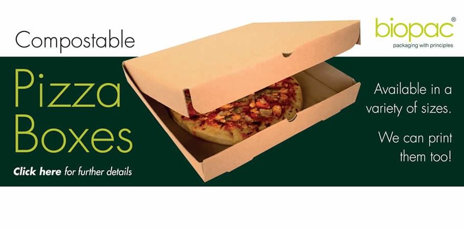 Eco-friendly Pizza Packaging available in a variety of sizes. Boxes, Inserts and Carriers...