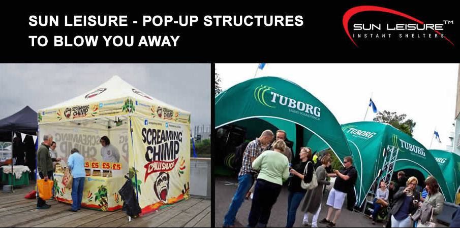 SUN LEISURE - POP-UP STRUCTURES TO BLOW YOU AWAY