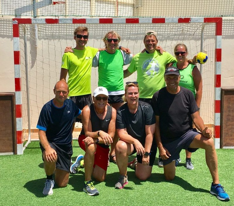 Street Handball Match at Club La Santa, Lanzarote, Spain with Singleture