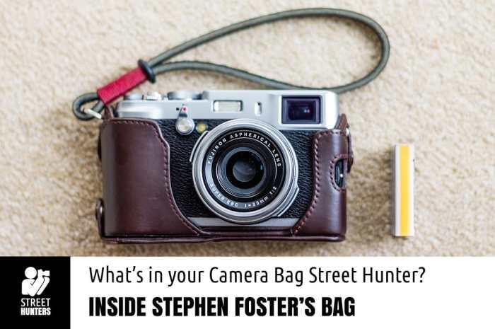 Inside Stephen Foster's camera bag