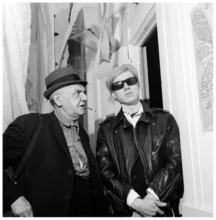 WeeGee with Andy Warhol