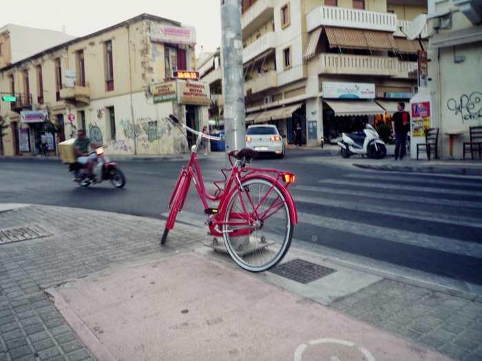 """Pink bicycle"" by Pavlina Papaspyropoulou"
