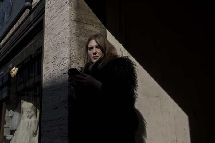'Woman in Black.' by Casper Macindoe  Shot in Shrewsbury, Shropshire, UK  March 2014