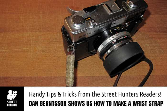 How to make a wrist strap for your camera by Dan Berntsson
