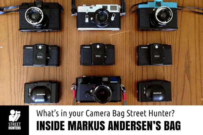 Markus Andersen's Camera Bag