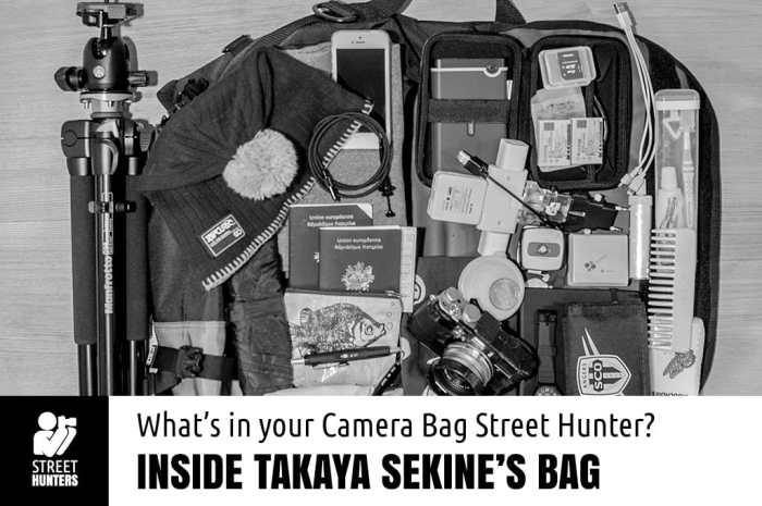 Takaya Sekine's Camera Bag