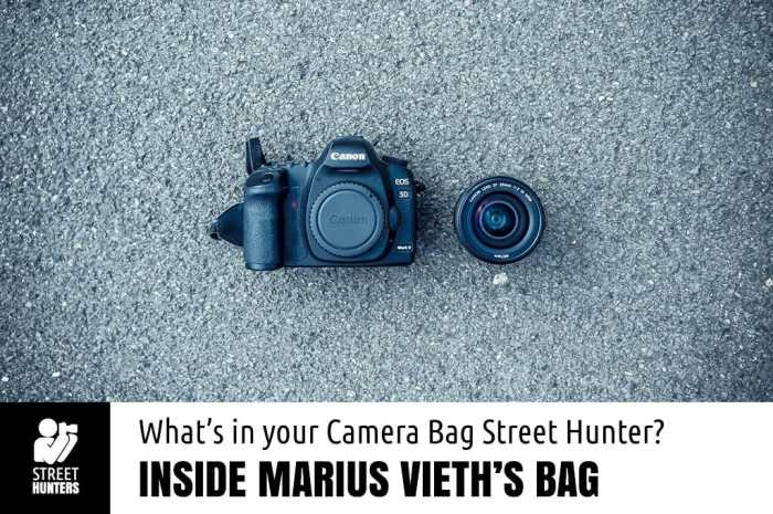 Camera bag of Marius Vieth