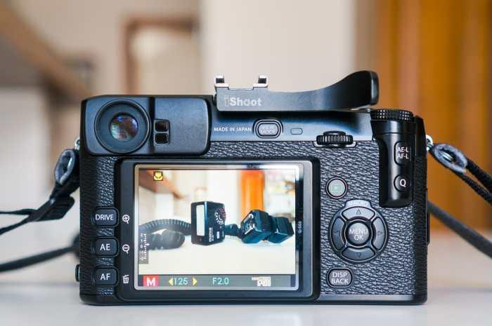 Fujifilm X-Pro1 rear view