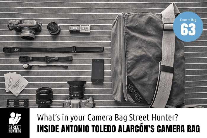 Inside Antonio Toledo Alarcón's camera bag
