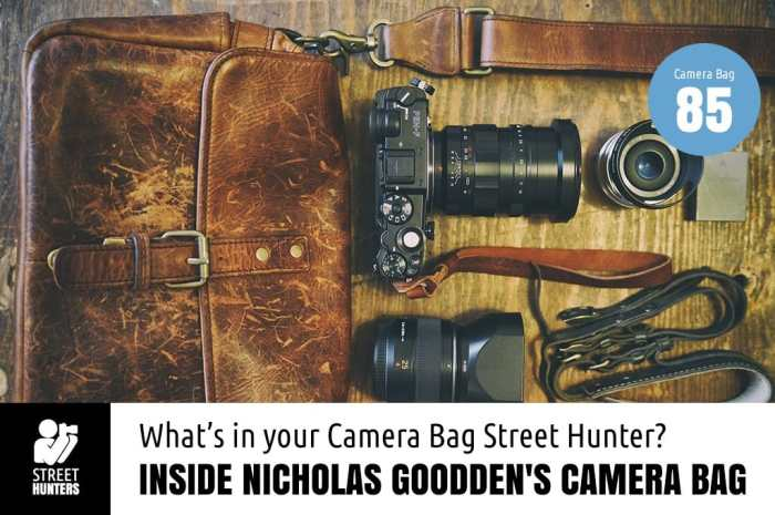 Inside Nicholas Goodden's Camera Bag