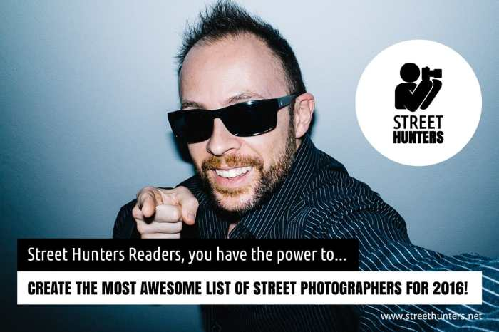 Send in your favourite street photographers