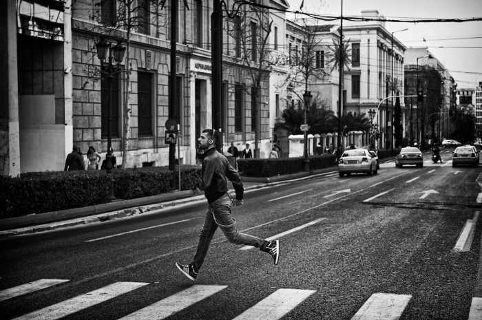 """Running man"" by Spyros Papaspyropoulos"