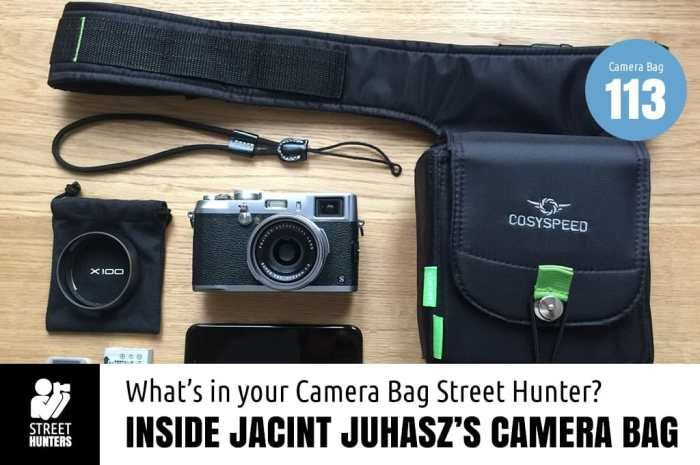 Jacint Juhasz's camera bag