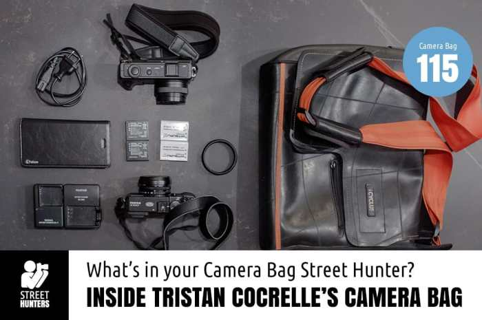 Inside Tristan Cocrelle's Camera Bag
