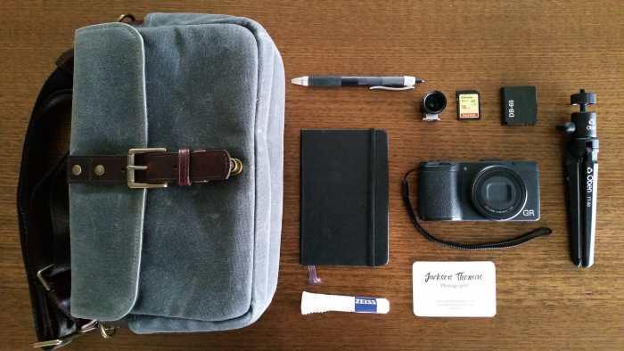 Inside Jackson Thomas' camera bag