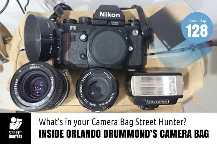 Inside Orlando Drummond's Camera Bag
