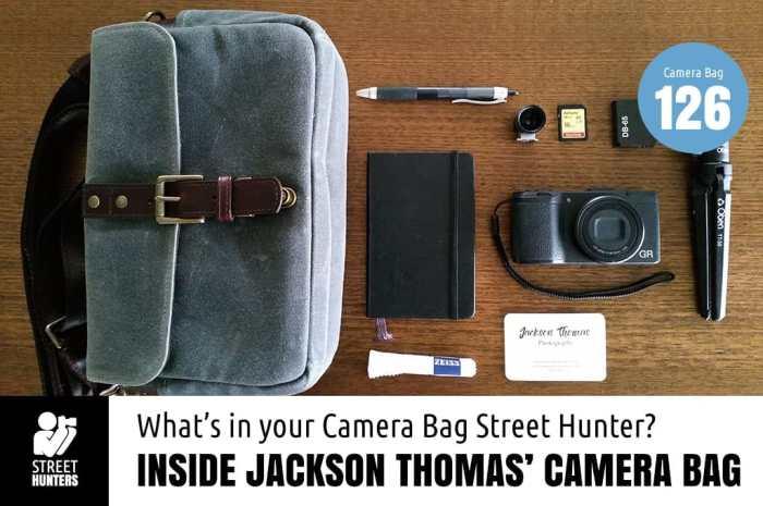 Jackson Thomas' camera bag