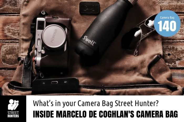 Inside Marcelo de Coghlan's Camera Bag
