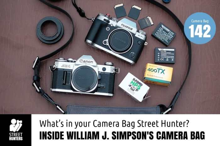 Inside William Simpson's Camera Bag