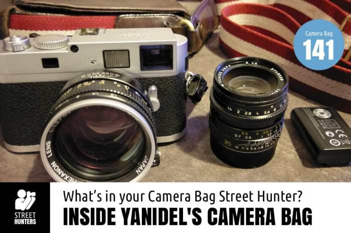 Inside Yanidel's Camera Bag
