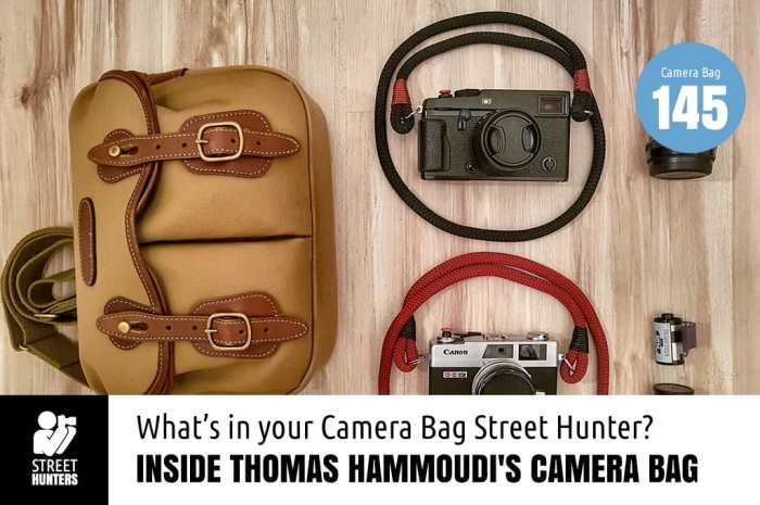 Inside Thomas Hammoudi's Camera Bag