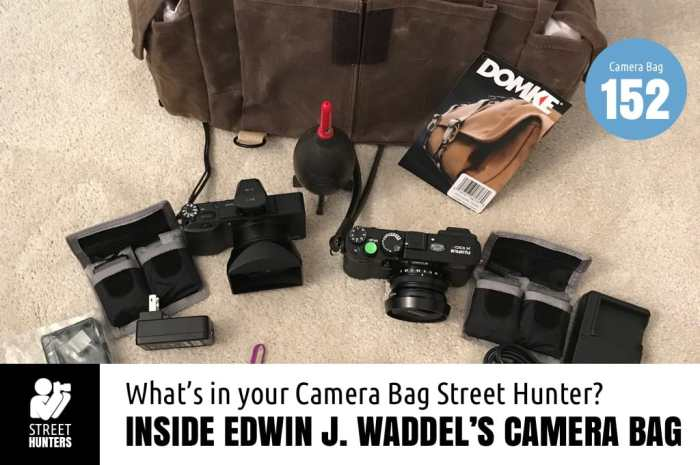 Inside Edwin Waddel's Camera Bag