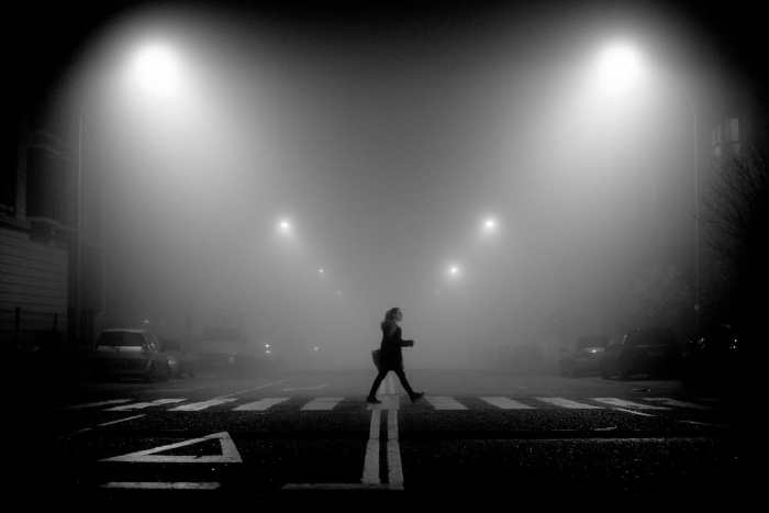 """Night Street Photography"" Street Photograph by David Fidalgo Martín"