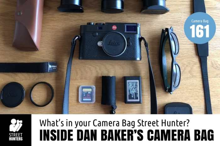 Inside Dan Baker's Camera Bag - Bag No. 161