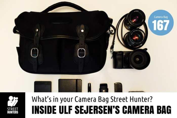 Inside Ulf Sejersen's Camera Bag