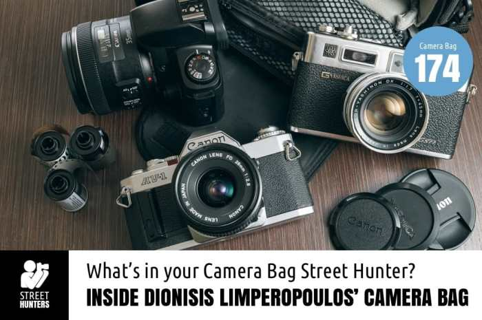 Inside Dionisis Limperopoulos' Camera Bag - Bag No. 174