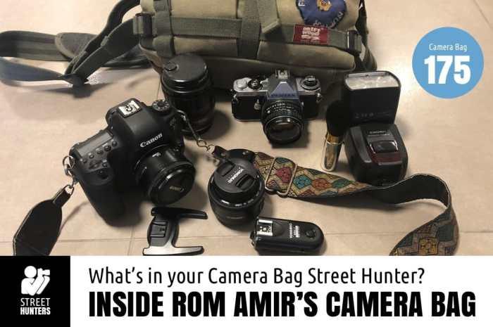 Inside Rom Amir's Camera Bag - Bag No.175
