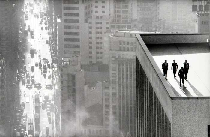 Men on a Rooftop by René Burri