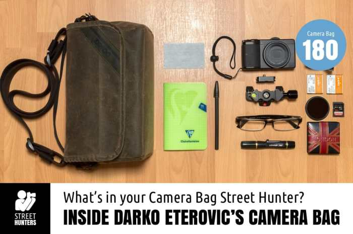 Inside Darko Eterovic's Camera Bag - Bag no.180