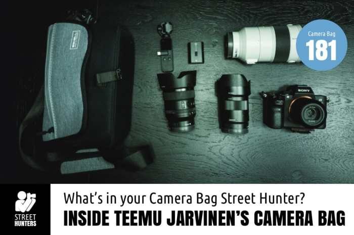 Inside Teemu Jarvinen's Camera Bag