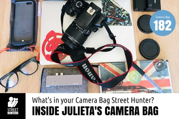Inside Julieta's Camera Bag - Bag no.182