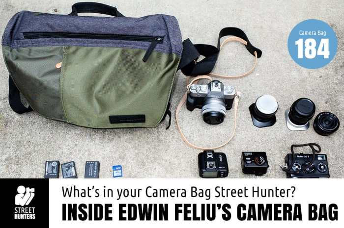 Edwin Feliu's Camera Bag