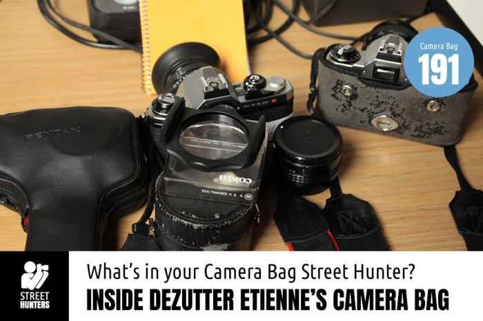 Inside Dezutter Etienne's Camera bag - Bag No.191