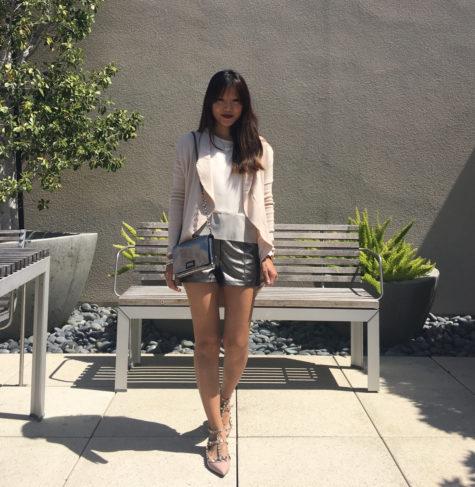 0fad43f3f23 metallic shorts blush top