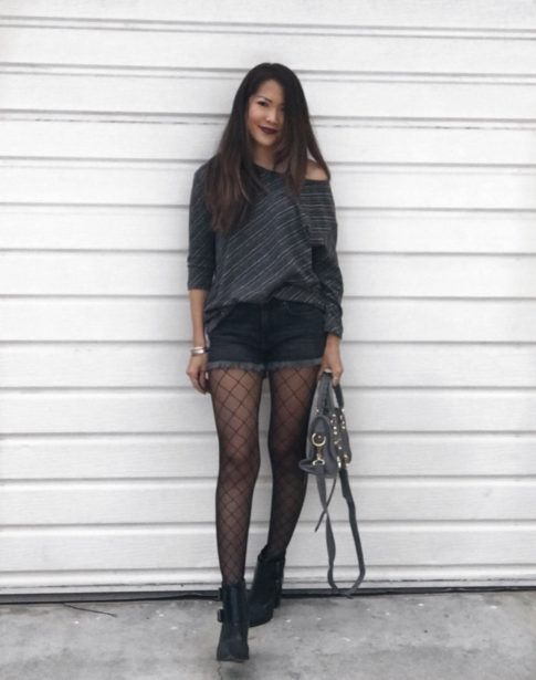 GOING GRAY IN FISHNETS | STREET MADONNA