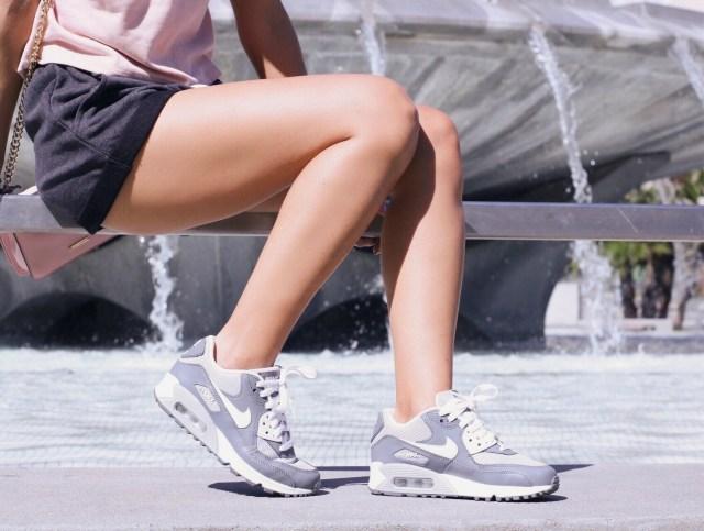 legs and nike air max 90 sneakers