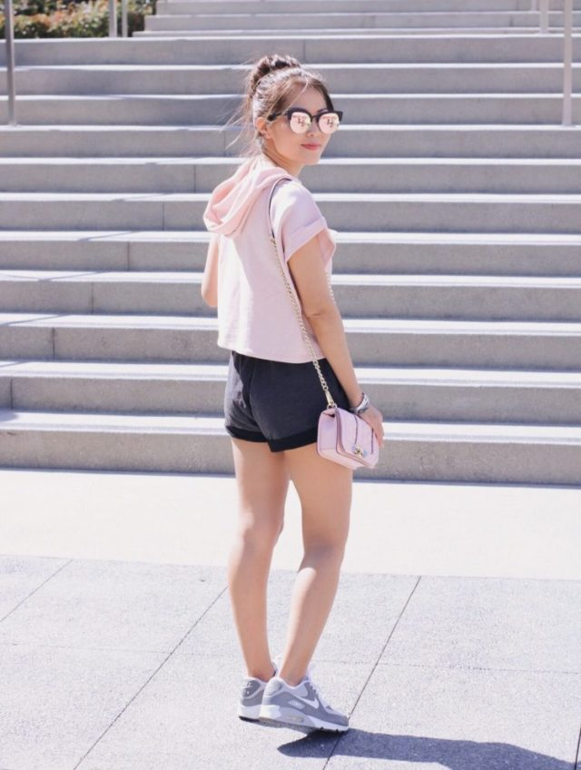 girl by stairs at grand park