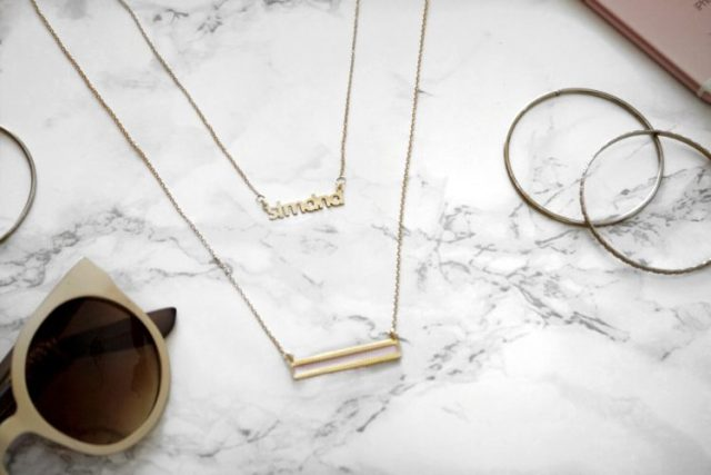 brook and york choker and bar enamel necklace