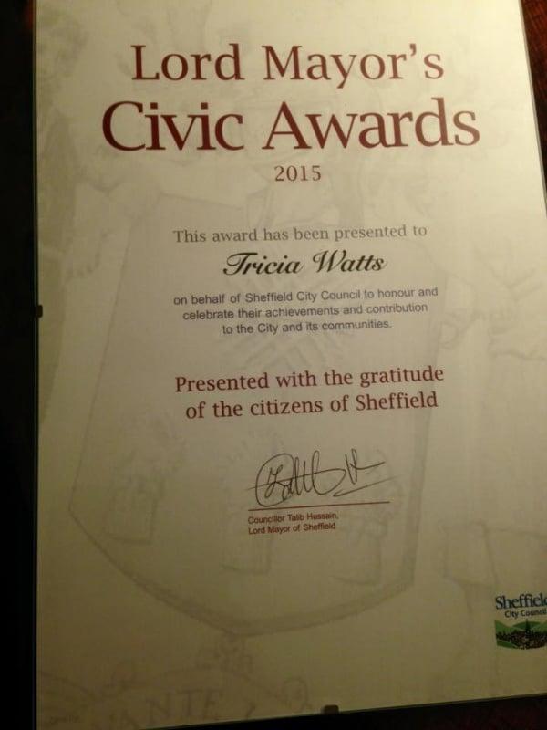 Sheff civic awards 2