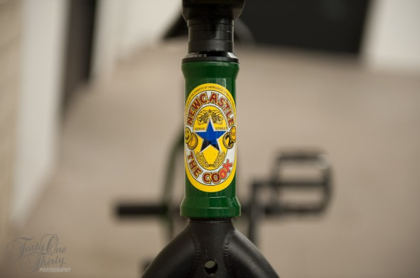 "Head Tube Graphic: Modified Hair Of The Dog Sticker ""The Cook"""